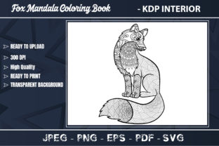 Fox Mandala Coloring Book for Adults Graphic Coloring Pages & Books Adults By KDP Zone