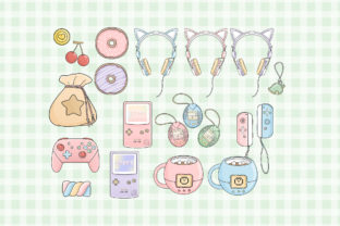 Print on Demand: Gamer Girl Clipart Illustration Graphic Illustrations By SincerelyNix 2