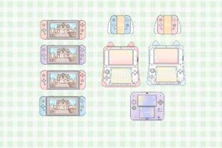 Print on Demand: Gamer Girl Clipart Illustration Graphic Illustrations By SincerelyNix 3