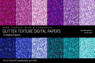 Glitter Digital Papers PPBT Graphic Textures By ZoollGraphics