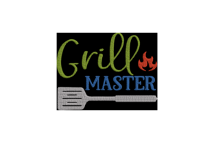 Grill Master Vatertag Stickdesign von Wingsical Whims Designs