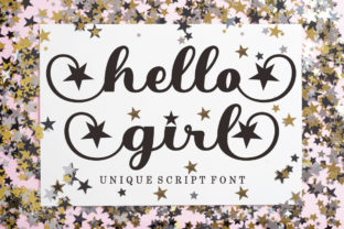 Print on Demand: Hello Girl Script & Handwritten Font By bosstypestudio