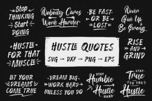 Print on Demand: Hustle Quotes Bundle Graphic Print Templates By TypeFactory