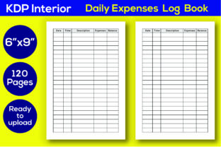 Print on Demand: KDP Interior Daily Expenses Log Book Graphic KDP Interiors By Iqra Graphics Design