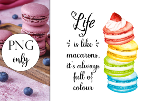 Life is Like Macarons - British Graphic Illustrations By Dark Carnival