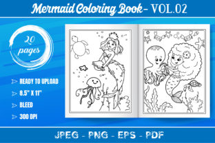 Mermaid Coloring Book for Kids Graphic Coloring Pages & Books Kids By KDP Mastery