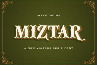 Print on Demand: Miztar Blackletter Font By StringLabs