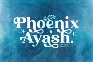 Print on Demand: Phoenix Ayash Serif Font By StringLabs