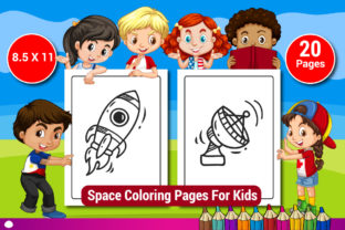 Space Coloring Pages for Kids Vol-2 Graphic Coloring Pages & Books Kids By Sharif54