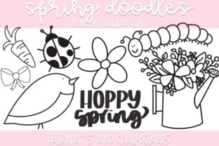 Print on Demand: Spring Doodles Dingbats Font By Fairways and Chalkboards