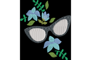 Sunglasses and Flowers Accessories Embroidery Design By Wingsical Whims Designs