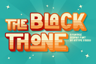 Print on Demand: The Black Thone Display Font By attypestudio