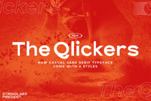 Print on Demand: The Qlickers Sans Serif Font By StringLabs
