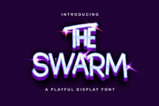 Print on Demand: The Swarm Display Font By StringLabs