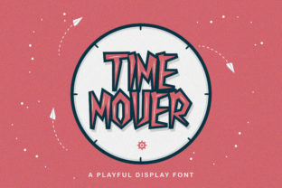 Print on Demand: Time Mover Display Font By StringLabs