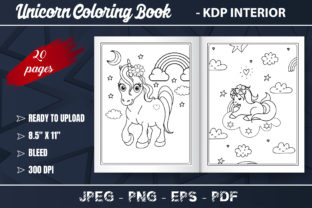 Unicorn Coloring Book for Kids Graphic Coloring Pages & Books Kids By KDP Zone
