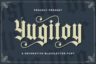 Print on Demand: Yugitoy Blackletter Font By StringLabs
