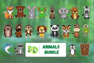 3D Animals SVG Bundle Grafik 3D SVG von SvgOcean