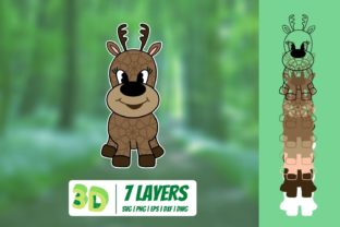 3D Fawn SVG Graphic 3D SVG By SvgOcean