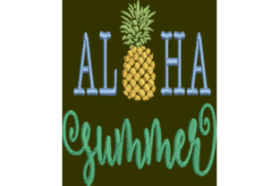 Aloha Summer Summer Embroidery Design By Wingsical Whims Designs