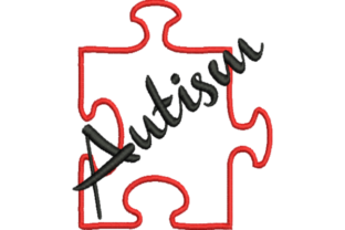 Autism Awareness Puzzle Piece Awareness & Inspiration Embroidery Design By Wingsical Whims Designs