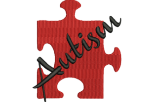 Autism Awareness Puzzle Piece Filled Awareness Embroidery Design By Wingsical Whims Designs