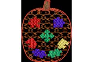 Autism Awareness Puzzle Piece Pumpkin Halloween Embroidery Design By Wingsical Whims Designs 2