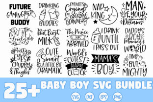 Print on Demand: Baby Boy SVG Bundle Graphic Crafts By freelingdesignhouse