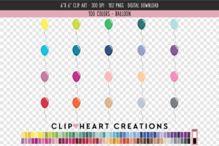 Balloons Clip Art - 100 Colors Graphic Icons By clipheartcreations