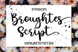 Print on Demand: Broughtes Script & Handwritten Font By Sulthan Studio