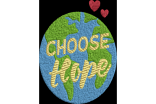 Choose Hope Awareness & Inspiration Embroidery Design By Wingsical Whims Designs