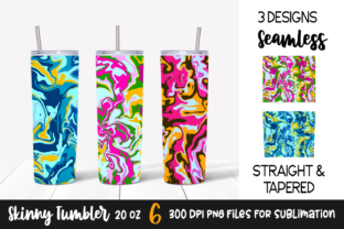 Colorful Marble Abstract Tumbler Designs Graphic Print Templates By VR Digital Design