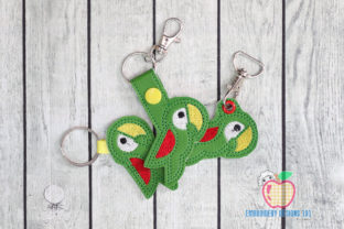 Cute Parrot Bird ITH Snaptab Keyfob Birds Embroidery Design By embroiderydesigns101