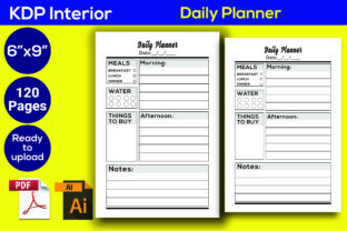 Print on Demand: Daily Planner KDP Interior Graphic KDP Interiors By Iqra Graphics Design