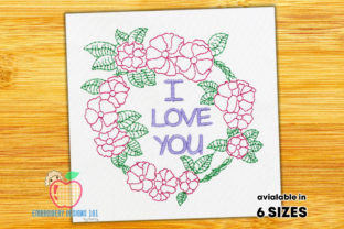 Decorative Floral Wreath Quick Stitch Floral Wreaths Embroidery Design By embroiderydesigns101
