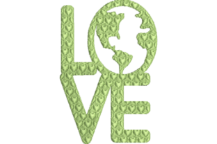 Earth Love Holidays & Celebrations Embroidery Design By Wingsical Whims Designs