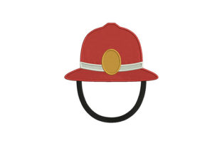 Firefighting Helmet Work & Occupation Embroidery Design By DigitEMB