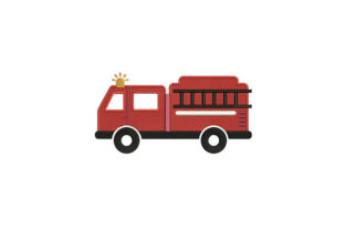 Firefighting Vehicle Work & Occupation Embroidery Design By DigitEMB
