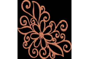 Flower Outline Flowers Embroidery Design By Wingsical Whims Designs