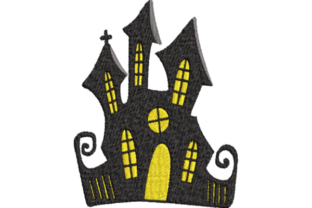 Halloween House Halloween Embroidery Design By Wingsical Whims Designs