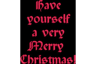 Have Yourself a Merry Christmas Christmas Embroidery Design By Wingsical Whims Designs