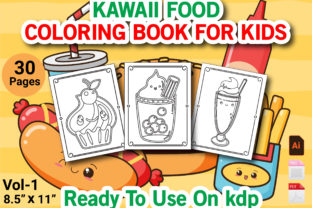 Print on Demand: Kawaii Food Coloring Book for Kids Vol 1 Graphic KDP Interiors By Duaa Store