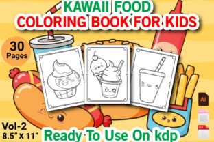 Print on Demand: Kawaii Food Coloring Book for Kids Vol 2 Grafik KPD Innenseiten von Duaa Store