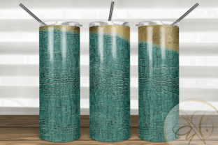 Leather Skinny Tumbler  Sublimation Graphic Print Templates By paperart.bymc