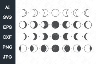 Print on Demand: Moon Phases SVG | Mystical Moon Phases Graphic Illustrations By CRStocker