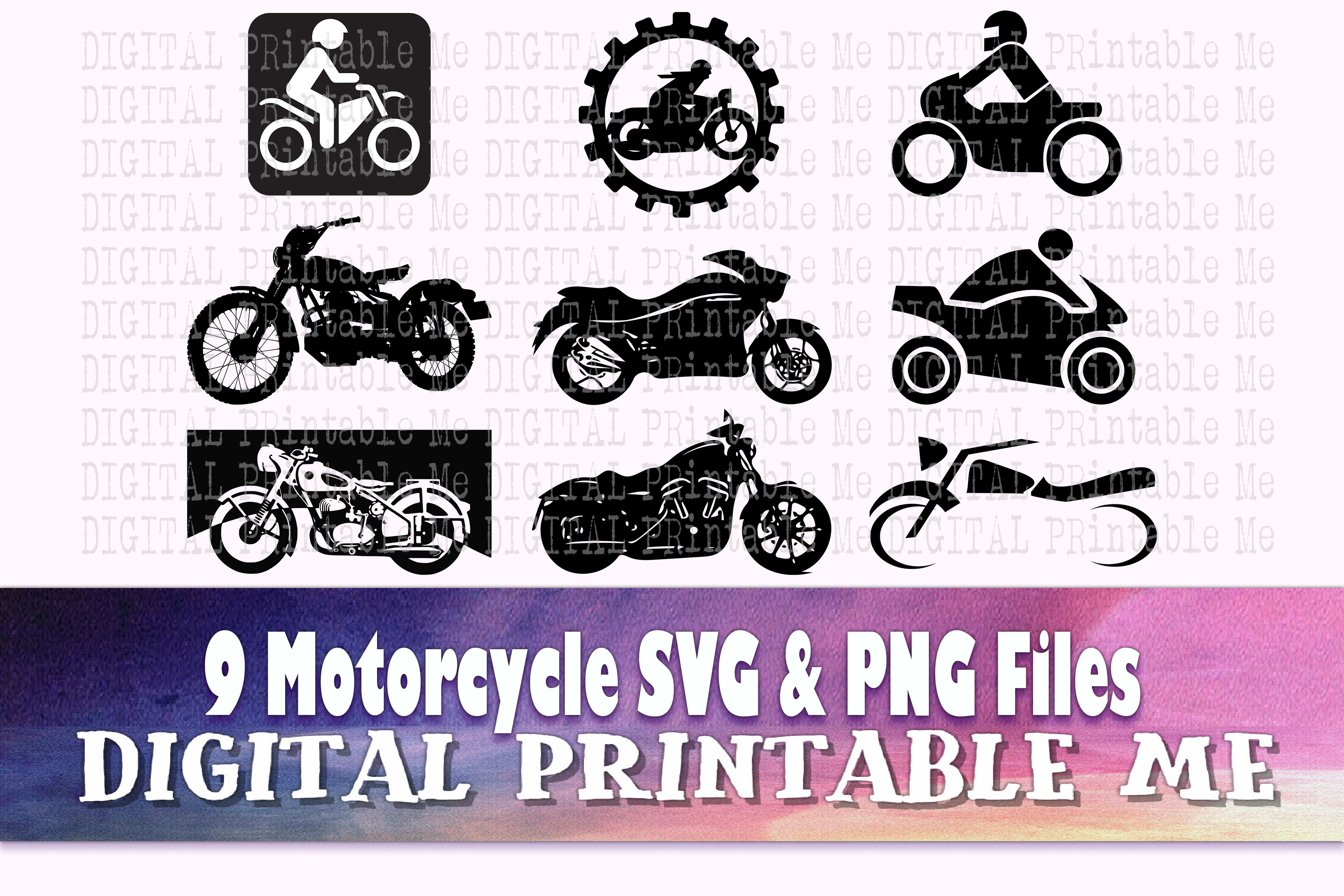 Motorcycle, Silhouette Simple SVG File