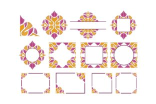 Print on Demand: Ornament Border with Pencil Color Bundle Graphic Crafts By Arief Sapta Adjie 1