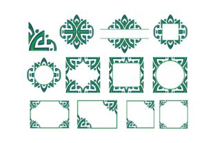 Print on Demand: Ornament Border with Pencil Color Bundle Graphic Crafts By Arief Sapta Adjie