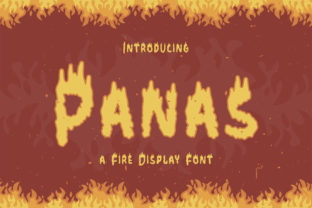 Print on Demand: Panas Display Font By TypeFactory