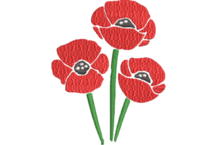 Poppy Flower Single Flowers & Plants Embroidery Design By Wingsical Whims Designs